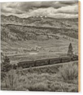 Cumbres Toltec Railroad Nm Sepia Dsc04065 Wood Print