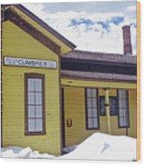 Cumbres Train Station Wood Print