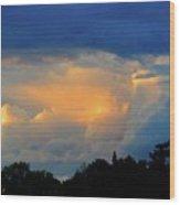 Cumulonimbus Cloud  Wood Print