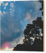 Cumulonimbus Clouds At Sunset Wood Print