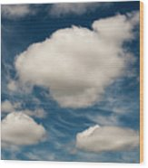 Cumulus Clouds With Nature Patterns Wood Print