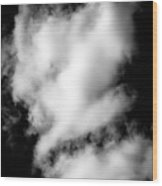Cumulus Congestus Clouds Dog Shapes Wood Print