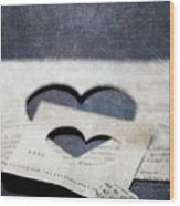 Cuori Persi Wood Print