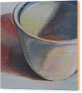 Cup And Shadow 1 Wood Print
