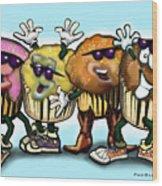 Cupcake Dance Wood Print