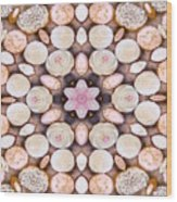 Cupcake Kaleidoscope Wood Print