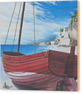 Cupecoy Beach Wood Print