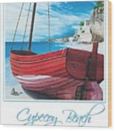 Cupecoy Beach Poster Wood Print