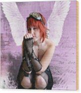 Cupid Wood Print by Crispin  Delgado