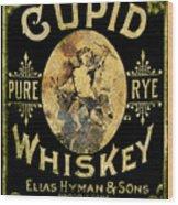 Cupid Whiskey Wood Print
