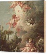Cupids Target Wood Print