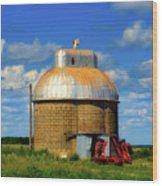 Cupola Grain Silo - Iowa Wood Print