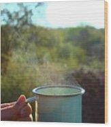Cuppa Steam Wood Print