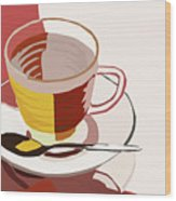 Cuppa Wood Print