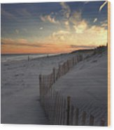 Cupsogue Beach Sunset Wood Print