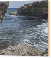 Curacao - Coast At Shete Boka National Park Wood Print