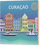 Curacao Horizontal Scene Wood Print