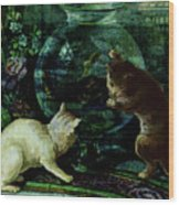 Curious Kittens Wood Print