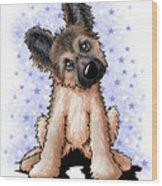 Curious Shepherd Puppy Wood Print