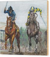 Curlin - Comin Home At The Preakness Wood Print