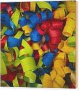 Curly Ribbons  Wood Print