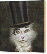 Curmudgeon Cat Wood Print