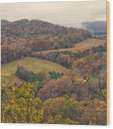 Current River Valley Near Acers Ferry Mo Dsc09419 Wood Print