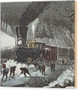 Currier And Ives Wood Print