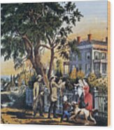 Currier: Country Life Wood Print