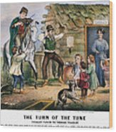 Currier  Ives Folk Tradition Wood Print by Granger