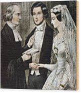 Currier: The Marriage Wood Print
