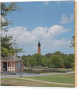 Currituck Lighthouse From Heritage Park Wood Print