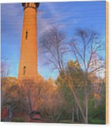 Currituck Lighthouse In Winter Outer Banks Ap Wood Print