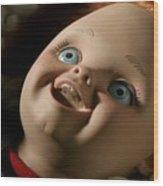 Curse Of Chucky Wood Print