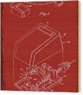 Cursor Control Device Patent Drawing 1n Wood Print