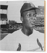 Curt Flood (1938- ) Wood Print