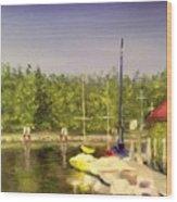 Curtin's Marina II Wood Print