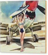 Curtis P-40 Warhawk Wood Print