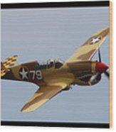 Curtis P-40n Warhawk Wood Print
