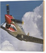 Curtiss P-40n Warhawk Wood Print