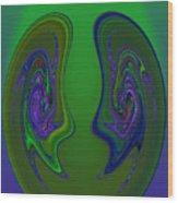 Curve Evolution 4 Wood Print