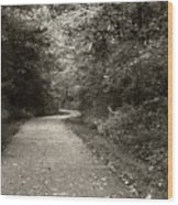 Curve In The Road Wood Print