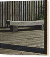Curved Bench Wood Print