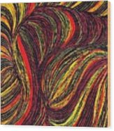 Curved Lines 3 Wood Print