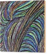 Curved Lines 7 Wood Print