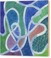 Curved Paths Wood Print