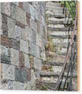 Curved Stone Staircase 235 Wood Print
