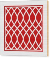 Curved Trellis With Border In Red Wood Print