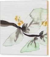 Curving Leafy Green Wood Print
