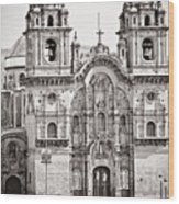 Cusco Cathedral Wood Print by Darcy Michaelchuk